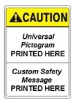 Custom Safety Signs - Choose from 3 Sizes 7 X 10, 10 X 14 or 14 X 20 and 4 Constructions Pressure Sensitive Vinyl. Plastic, Aluminum or Fiberglass - It's easy to make your own custom safety signs using our compliant templates