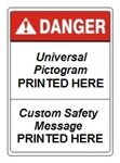 Custom Worded ANSI Danger Signs - Choose from 3 Sizes 7 X 10, 10 X 14 or 14 X 20 and 4 Constructions Pressure Sensitive Vinyl. Plastic, Aluminum or Fiberglass - It's easy to make your own custom safety signs using our compliant templates