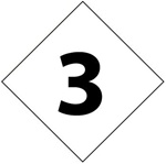 Pre-printed hazard rating number 3 - Clear pressure sensitive vinyl Available in 1, 2, 3, 4, and 6 inch - 5 Identical Characters per Pack.