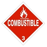 DOT PLACARD - COMBUSTIBLE - CLASS 3, Choose from 4 Constructions