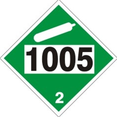 1005 Ammonia Anhydrous Dot Placard