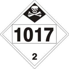 1017 Chlorine Dot Placard