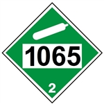 DOT PLACARD 1065 NEON COMPRESSED, Non-Flammable Gas, Class 2 -  Choose from 4 Materials: Pressure Sensitive Vinyl, Rigid Plastic, Aluminum or Magnetic