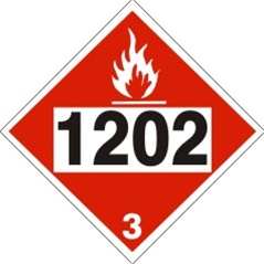 1202 Gas Oil Diesel Fuel Heating Oil Dot Placard