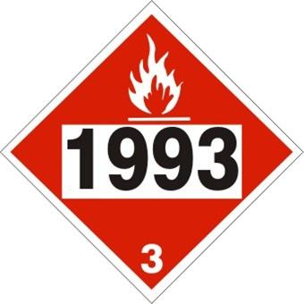 1993 Flammable Liquids Dot Placard