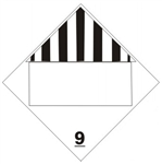 DOT PLACARD (BLANK BOX) CLASS 9 (MISCELLANEOUS DANGEROUS GOODS PLACARD), Choose from 4 Materials: Press on Vinyl, Rigid Plastic, Aluminum or Magnetic.
