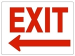 EXIT Sign arrow left Choose 7 X 10 - 10 X 14, Self Adhesive Vinyl, Plastic or Aluminum.