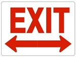 EXIT with double arrow Sign - Choose 7 X 10 - 10 X 14, Self Adhesive Vinyl, Plastic or Aluminum.