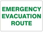 EMERGENCY EVACUATION ROUTE Sign - Choose 7 X 10 - 10 X 14, Self Adhesive Vinyl, Plastic or Aluminum.