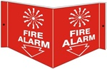 FIRE ALARM 3-Way Wall Mount Sign