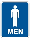 MEN RESTROOM Sign - Choose 7 X 10 - 10 X 14, Self Adhesive Vinyl, Plastic or Aluminum.