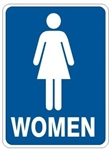 WOMEN RESTROOM Sign - Choose 7 X 10 - 10 X 14, Self Adhesive Vinyl, Plastic or Aluminum.