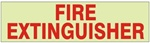 "FIRE EXTINGUISHER Glow in the Dark Sign, 2.25"" x 9"" Pressure Sensitive Decal"