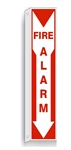 2-Way FIRE ALARM Double Sided Flanged Sign - Available in Plastic or Aluminum
