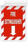 "FIRE EXTINGUISHER 13"" X 10"" Double-Sided Drop Ceiling Sign"