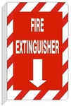 FIRE EXTINGUISHER (2-Way) Wall Mount Flanged Sign, Available 7 x 10 and 10 X 14 Plastic or Aluminum