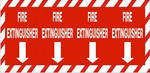 FIRE EXTINGUISHER COLUMN Sign 12 x 24