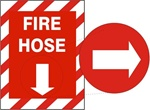 FIRE HOSE Sign, Choose from 3 constructions