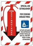 Class Marker Special Use FIRE EXTINGUISHER Sign - Choose 7 X 10 - 10 X 14, Self Adhesive Vinyl, Plastic or Aluminum.