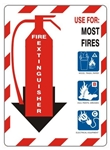 Class Marker ABC FIRE EXTINGUISHER Sign - Choose 7 X 10 - 10 X 14, Self Adhesive Vinyl, Plastic or Aluminum.