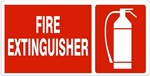 FIRE EXTINGUISHER (Symbol) Sign - Available 6.5 X 14 Self Adhesive Vinyl, Plastic and Aluminum.