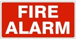 FIRE ALARM Sign - Available 6.5 X 14 Self Adhesive Vinyl, Plastic and Aluminum.