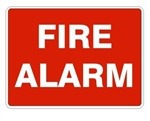 FIRE ALARM Sign  - Choose 7 X 10 - 10 X 14, Self Adhesive Vinyl, Plastic or Aluminum.
