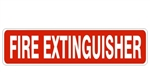 FIRE EXTINGUISHER Sign - Choose from Self Adhesive Vinyl, Plastic and Aluminum.