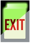 Glow in the Dark Drop Ceiling EXIT Sign 13 X 10 Double-Sided