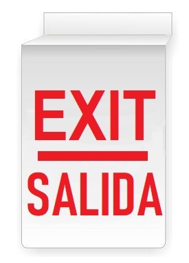 Bilingual, Drop Ceiling EXIT Sign 13 X 10 Double Sided