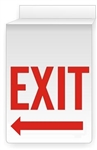 EXIT w/Arrow  13 X 10 Double-Sided Ceiling Mount Sign