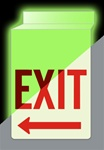 "EXIT w/Arrow 13"" X 10"" Double-Sided Drop Ceiling Glow-Sign"