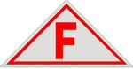 F FLOOR TRUSS IDENTIFICATION Sign - 12 x 6 Aluminum