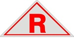 R ROOF TRUSS IDENTIFICATION Sign - 12 X 6 Aluminum