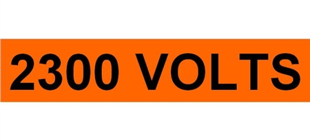 2300 VOLTS, Electrical Marker