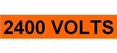 2400 VOLTS, Electrical Marker