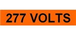 277 VOLTS, Electrical Marker - 2 1/4 X 9 One Marker per card