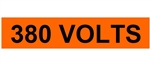 380 VOLTS, Electrical Marker - 2 1/4 X 9 One Marker per card