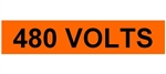 480 VOLTS, Electrical Marker - 2 1/4 X 9 One Marker per card