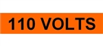 110 VOLTS, Electrical Marker - 2 1/4 X 9 One Marker per card