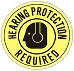 Non-Slip HEARING PROTECTION REQUIRED, Walk On 17 inch diameter Floor Decal