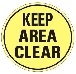 Safety Floor Signs Keep Area Clear