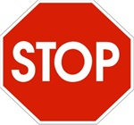 Non-Slip, STOP SIGN, Walk On 17 inch Octagon, Floor Decal