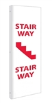 2-Way Stairway Sign,  Unique 90° construction design that stands out, visible from both sided