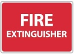 FIRE EXTINGUISHER Identification Sign, 10 X 14, Self Adhesive Vinyl, Plastic or Aluminum.