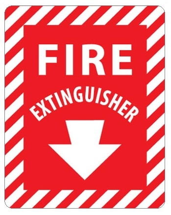 FIRE EXTINGUISHER, Arrow Signs