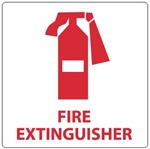 FIRE EXTINGUISHER Sign - Choose from Self Adhesive Vinyl or Plastic