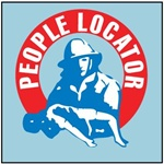 PEOPLE LOCATOR Window Stickers, 4 X 4, Pressure Sensitive