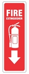 FIRE EXTINGUISHER Symbol Sign, 12 X 4 - Self Adhesive Vinyl or Plastic