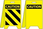 Caution Floor Stand With Warning Stripes / Caution Blank - Reversible Two Sided Flood Stands